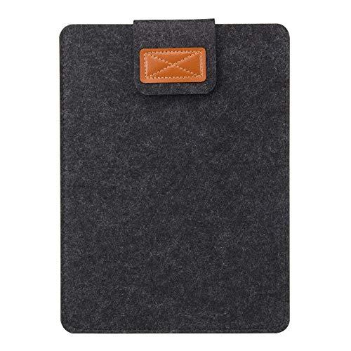 7-8 Inch Sleeve Case, Techcircle Tablet Felt Cover Pouch Bag Slim Case for Apple iPad Mini 4 7.9 inch, Samsung Galaxy Tab A 8, Dark Gray