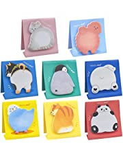AvoDovA Animal Sticky Notes, 8 Pads 240 Sheets Cute Novelty Sticky Notes, Kids Stationary, Mini Memo Note Pad for Children School Supplies, Gifts for Pupils, Kids, Girls