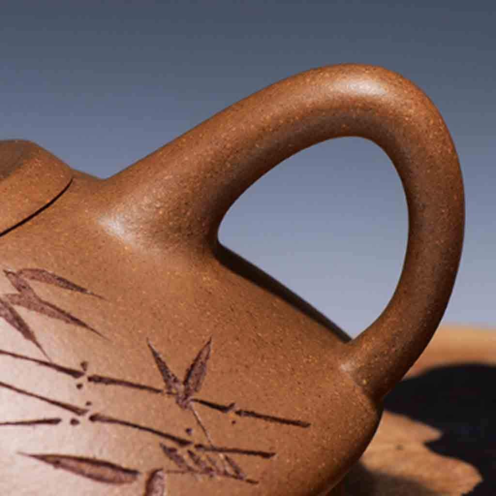 Tea Cozies Zisha Pot Pure Hand-Made Section mud Stone Scoop Xi Shi Antique Household Kung Fu teapot Tea Set (Color : Brown, Size : 16.76.87.8cm) by Tea Cozies (Image #7)