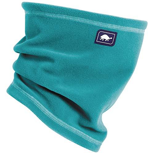- Turtle Fur Single-Layer Lightweight Micro Fur Fleece Neck Warmer, Teal Spin