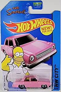 "The Simpsons Complete Season One featuring the Episode ""Simpsons Roasting on an Open Fire"" Debut of The Pink Sedan Car with Bonus Hot Wheels Family Car 1:64 DieCast Car Bundle by Fox, Hot Wheels"