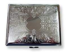 Cigarette Cases are always a classy way to hold on to your cigarettes and prevent them from getting crushed. Just flip the spring loaded lid open and retrieve your favorite cigarette. This cigarette case is 80mm long and will hold 20 regular ...