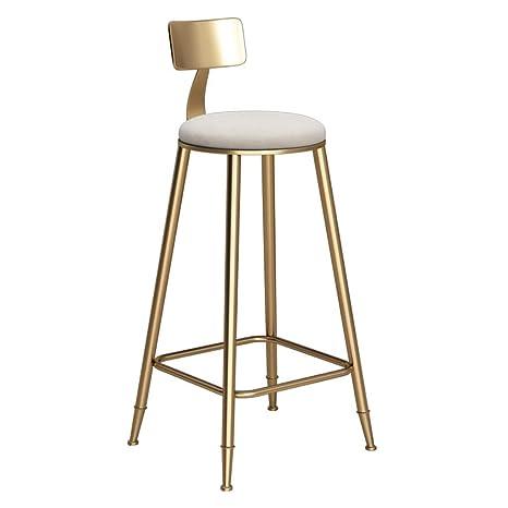 Incredible Amazon Com Metal High Stool Backrest White Velvet Cushion Bralicious Painted Fabric Chair Ideas Braliciousco