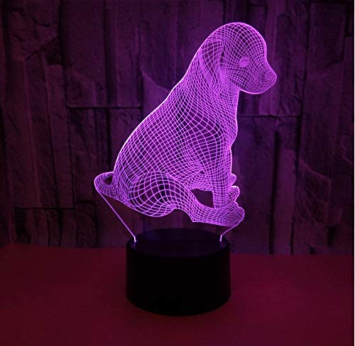 Animal Dog Lámparas De Mesa 3DRegalocoloridolámpara De Escritorio ...