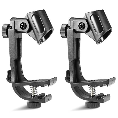 neewer-2-pack-clip-on-drum-mount-microphone-clamps-holders-with-adjustable-height-and-swivel-easy-to