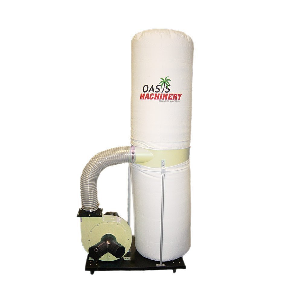 Oasis Machinery DC2000A Heavy Duty 2 HP Wood Dust Collector