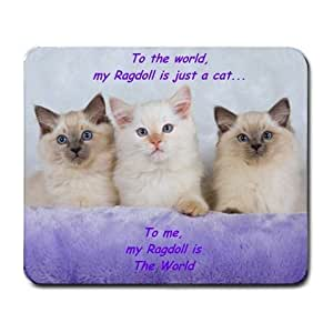 RAGDOLL KITTY CAT CATS COMPUTER MOUSE MAT PAD MOUSEPAD