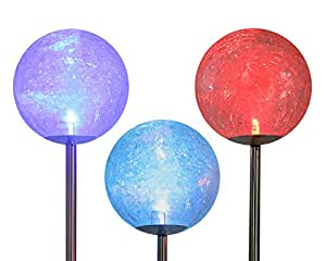 Amazon Com Cracked Glass Solar Stake Lamp Scopow 3 Pack
