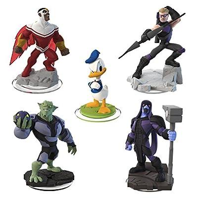 Disney Infinity 2.0 Edition - 5 Figures - Hawkeye, Ronan, Green Goblin, Falcon and Donald Duck
