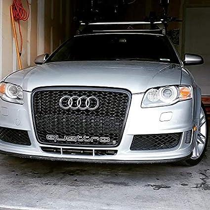 Emblema Quattro RS Style auto con logo decorativo frontale per griglia refit accessori Galvanik Logo Gilt per AD