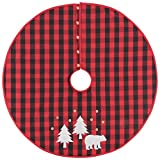 Now Designs 3016001 Buffalo Check Bear, Tree Skirt