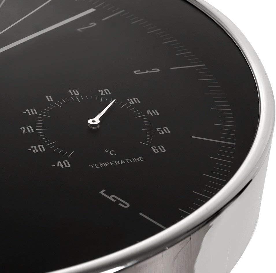 Maclean CE60 S Horloge Murale 30 cm argent/é