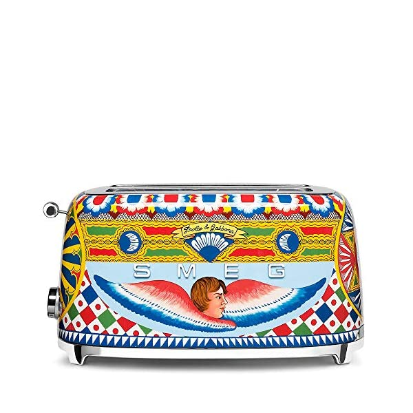 """Dolce and Gabbana x Smeg TSF02DGUS 4 Slice Toaster,""""Sicily Is My Love,"""" Collection 1"""