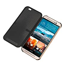 32nd Dot Matrix Design Case Cover for HTC One A9 Cellphone (Compatible with HTC Dot View Functions) - Black
