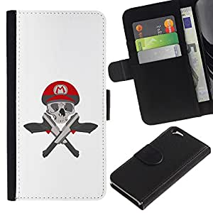 ZCell / Apple Iphone 6 / M Guns Game Pistols Skull White / Caso Shell Armor Funda Case Cover Wallet / M Armas de fuego juego pistolas crá