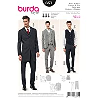 Burda Style Steampunk Men's Suit and Vest Sewing Pattern Sizes 34-50