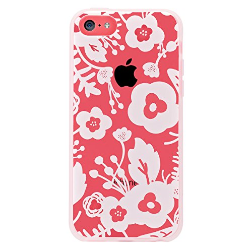 Agent 18 iPhone 5C Case, - White Flowers - Shockslim