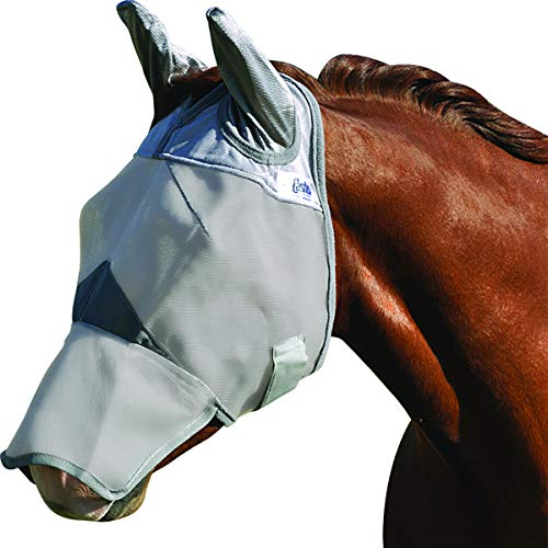 Cashel Crusader Horse Fly Mask, Long Nose with Ears, Horse