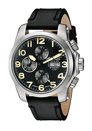 Ingersoll Men's IN2301SBK Pomo Analog Display Automatic Self Wind Black Watch
