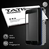 [Super smooth for APP winner & 3D Curve Fit] Tateguard Iphone 7 plus tempered glass screen protector [Matte surface and full bending coverage][Black tooling]