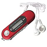 SODIAL(R) 8GB USB 2.0 Flash Drive LCD Mini MP3 Music Player with FM Radio Voice Recorder (Red)