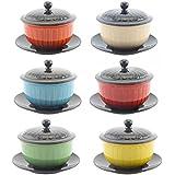 Leonardo Bol à soupe avec couvercle et soucoupe-Disponible en différentes couleurs.