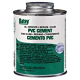 Oatey 31132 PVC All Weather Cement, Clear, 16-Ounce
