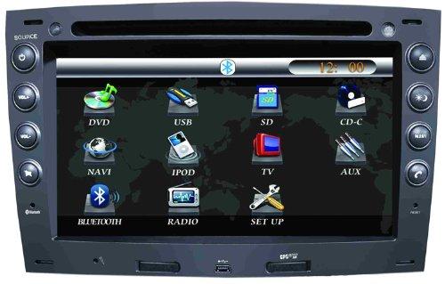 Radio DVD Coche para Renault Megane II con GPS - 7 pulgada, GPS, FM