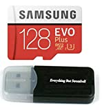 128GB Samsung Evo Plus Micro SDXC Class 10 UHS-1 128G Memory Card for Samsung Galaxy Note 8, S8, S8+ Plus, S7, S7 Edge, S5 Active Cell Phone with Everything But Stromboli Card Reader (MB-MC128GA)