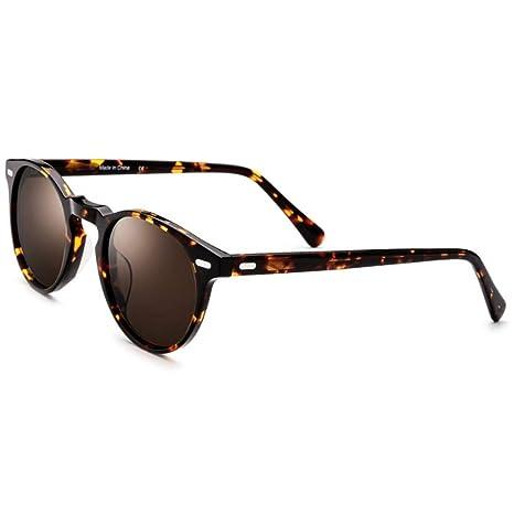 Xuanbao Gafas de Sol Unisex Pequeñas Gafas de Sol Redondas ...
