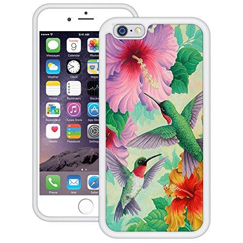 Kolibris | Handgefertigt | iPhone 6 6s (4,7') | Weiß TPU Hülle
