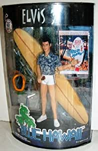 Elvis Blue Hawaii figure -doll with stand and light 7""