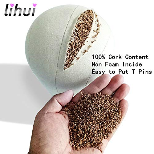 Lihui 22inch Cork Mannequin Head Canvas Wig Head Canvas Cork Block Head Canvas Head For Wigs Display,Styling And Making by Lihui (Image #5)