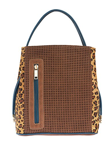 samoe-style-cocoa-brown-punched-texture-with-cheetah-print-classic-convertible-handbag