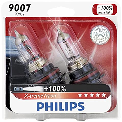 Philips 9007 X-tremeVision Upgrade Headlight Bulb, 2 Pack - Nissan Frontier Headlight Replacement