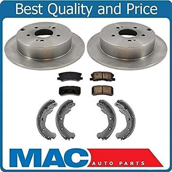 Front+Rear Drill Slot Brake Rotors /& Ceramic Pads For 2006-2012 Saab 9-3