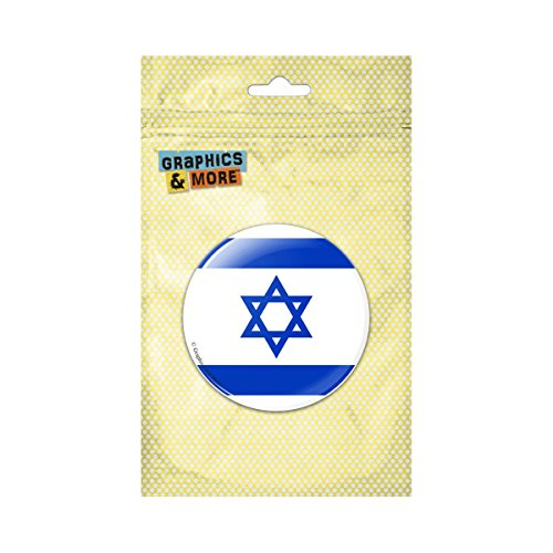 (Israel National Country Flag Pinback Button Pin Badge - 1 Inch Diameter)