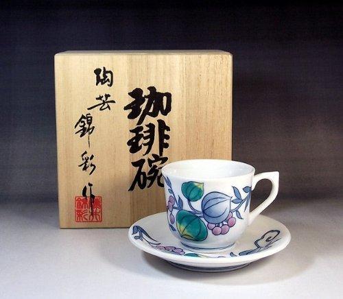 Arita - Imari Fujii NishikiAya Somenishiki demitasse coffee cup gift   gifts   souvenirs   gift