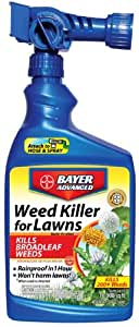 Bayer Advanced 704170 Weed Killer for Lawns Ready-to-Spray, 32-Ounce