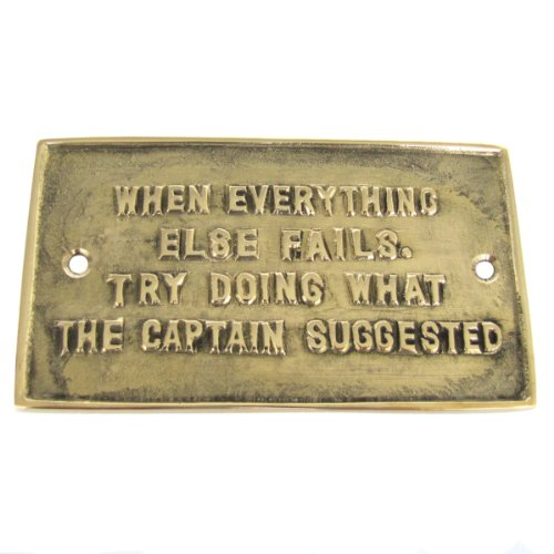Solid Brass Ships Plaque LISTEN TO THE (Everything Nautical)