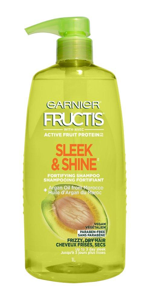 Garnier Fructis Sleek & Shine Shampoo, Frizzy, Dry, Unmanageable Hair, 33.8 fl. oz.
