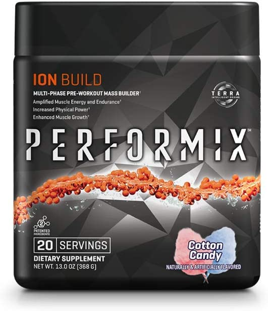 Performix ION Pre-Workout Powder, Explosive Energy, Ehnanced Focus, Elevated Pump 20 Servings, Cotton Candy