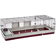 Ferplast Krolik XXL Rabbit Cage w/Wire Extension   Rabbit Cage Includes All Accessories & Measures 63.8L x 23.62W x 19.68H Inches   1-Year Warranty