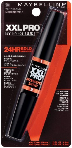 Maybelline New York XXL 24Hr Bold Mascara, Very Black 581, 0.3 Fluid Ounce