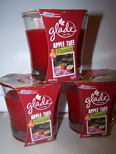 - Lot of 3 Glade Apple Tree Picnic Scented Candles 3.8 oz each (Apple Tree Picnic)