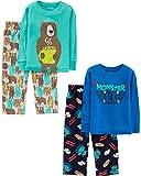 Simple Joys by Carter's Boys' Little Kid 4-Piece Pajama Set, Monster/Bear 6