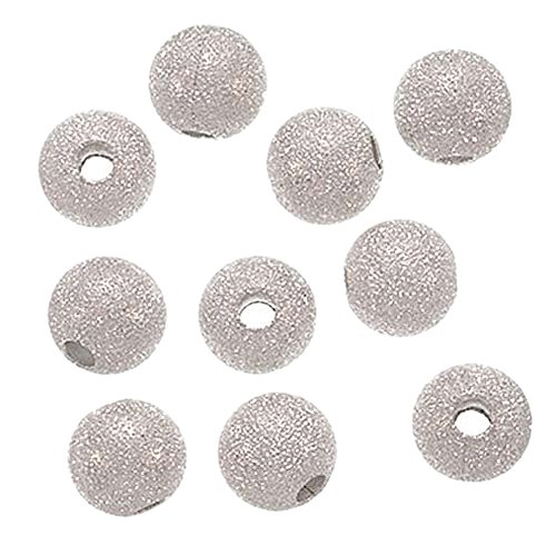 TOOGOO(R) 20PCS Stardust Sparkle Round Beads 10mm Silver (10 Mm Stardust Beads)