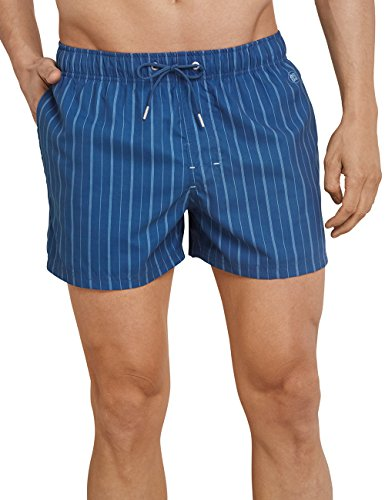 Zwembroek Blauw Heren.Zachte Gestreepte Voor Zwembroek 824 Zwemshort Blauw Schiesser