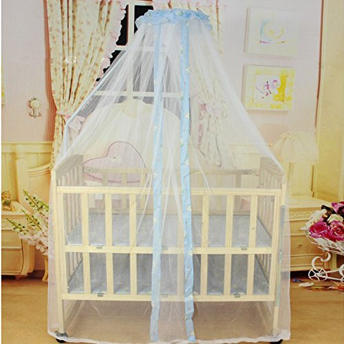 Soft Breathable Baby Mosquito Net Baby Toddler Bed Crib Canopy Netting by COFFLED