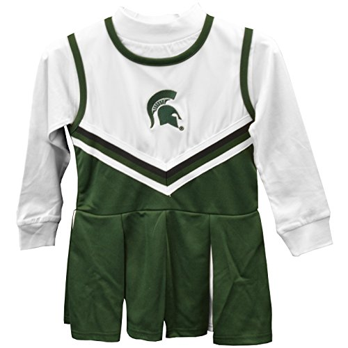 Michigan State Spartans Girls One Piece Cheer Dress - Size 18M -